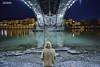 8662 (G de Tena) Tags: reflejo rio andalucia agua gril woman d800 nikon orilla guadalquivir puente sevilla sueño mujer chica