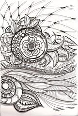 Tangle 230 (kraai65) Tags: zentangle zendoodle doodle zia drawing handmade