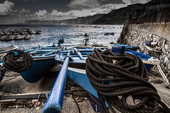 blue boats (paolotrapella) Tags: blue boats mare acqua porto scilla italia