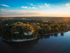 Starved Rock (patkelley3) Tags: state park illinois river sky drone aerial cliff