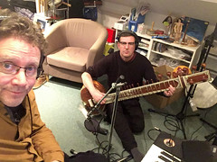 Chris Conway with sitarist Neil Donoghue (unclechristo) Tags: chrisconway neildonoghue sitar
