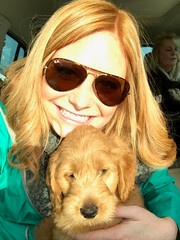 Kasey & Chase's Wrigley with his new family!