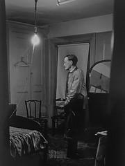 'Backwards Man' by Diane Arbus (Greatest Paka Photography) Tags: dianearbus photography photographer museum sfmoma backwardsman blackandwhite portrait abnormal