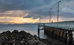Wellington point 2017 4 (Lesmacphotos) Tags: wellingtonpoint sunrise beach sea pier landscape water clouds rain jetty coast island