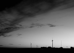 Serenity (Budoka Photography) Tags: blackandwhitephotos blackandwhite noiretblanc monochrome blackwhite windmill landscape nature sky clouds cloud outdoor canonllens 50mm canonfd50mmlf12 sunset silhouette serene silence 7dwf
