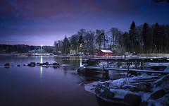 Rytäniemi (Jyrki Salmi) Tags: jyrki salmi rytäniemi kotka finland night evening pier winter outdoor snow