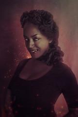The Demon (e.v.r.i.e.l) Tags: red woman selfportrait photomanipulation photoshop dark autoportrait vampire goth evil demon devil darkside possessed