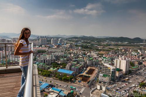 Widok z 32 piętra na Incheon