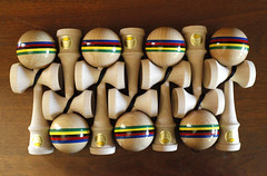 World Champ 2 (Rat Mice) Tags: world art colors bike portland fun toy toys cycling wooden san francisco champion bikes handpainted juggling yoyo champ skill kendama ozora dealwithit dealwithitsf