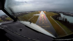 Landing in 40kt gusty winds (gc232) Tags: from 3 storm black wet rain weather plane work airplane shower fly flying office view wind live aircraft flight bad cockpit windy landing deck final rainy short airline land thunderstorm approach raining gusty winds edition pilot flightdeck windshear thunderstorms conditions gopro gusting gopro3