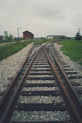 tracks to where? (thatgirlwiththekicks) Tags: railroad sky ontario canada green grass train cloudy stones tracks railway stthomas saintthomas