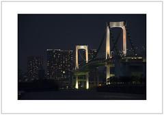 Rainbow Bridge (Pictures from the Ghost Garden) Tags: bridge urban japan night tokyo nikon zoom odaiba dslr rainbowbridge urbanlandscape 18105mm d7100