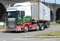 H2310 - PO15 USN (Cammies Transport Photography) Tags: road truck lorry eddie kieran usn desoto scania esl widnes bunty stobart eddiestobart r450 po15 h2310 po15usn