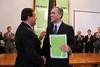 Weretilneck presidió el acto de asunción de los nuevos funcionarios provinciales. (fotografia@rionegro.gov.ar) Tags: presidente miguel río negro calvo fiduciaria