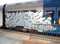 me, myself & i!! (en-ri) Tags: train writing torino graffiti grigio arrow rts 192 doper asm indaco 2per