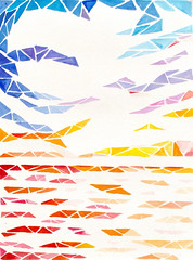 Geometric Abstract Landscape Painting - Seascape 1 (mairimayfieldart) Tags: seascape abstract art geometric painting landscape for countryside sale abstractart paintings mandala etsy artforsale acrylicart landscapepainting abstractpaintings abstractlandscape canvasart abstra acryliccanvas geometricabstract etsyart acrylicabstractart abstractseascape geometriclandscape abstractlandscapeart mairimayfield