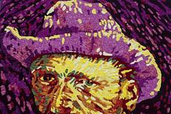 Flowery van Gogh (Arne Kuilman) Tags: street flowers netherlands amsterdam walking centre nederland july olympus juli centrum vangogh bloemen 1250 straat vincentvangogh bloemencorso 2015 corsozundert vincent125jaar