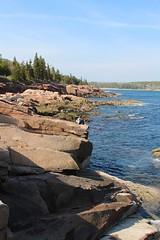 Relaxing on the rocky shore coast (daveynin) Tags: ocean rocks nps maine shore ledge acadia marlena deaftalent deafoutsidetalent deafoutdoortalent