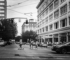Streetgoers (TMimages PDX) Tags: people urban usa geotagged photography photo cityscape traffic image streetphotography streetscene explore photograph pedestrians portlandoregon hdr fineartphotography flickrexplore explored iphoneography adobepsexpress