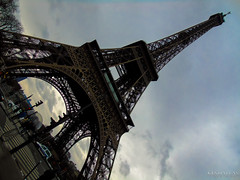 Some Tower (Kindallas) Tags: trip sky paris france tower clouds europe afternoon perspective eiffel after
