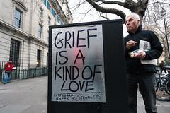 A Kind of Love (stevedexteruk) Tags: grief love andy leek bigissue seller cavendish cavendistsquare london uk marylebone 2016