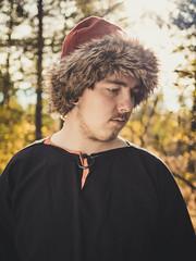 Fur Light (trm42) Tags: alasin histel karvareuhka karvahattu furry finland viking hat autumn suomi livinghistory