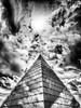 Pyramid - Sky (Hannover, Germany) (Jens Flachmann) Tags: pyramid sky clouds blackandwhite urban architecture architectural hannover germany dramatic mirror mirroring sun
