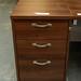Walnut desk high 3 drawer ped 800 deep