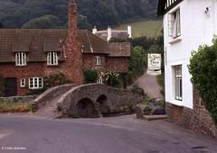1974 003 Allerford Bridgea_C_Small (Kernowfile) Tags: allerfordbridge cottages bridge road