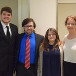 Psychology professor poses with her Capstone advisees.