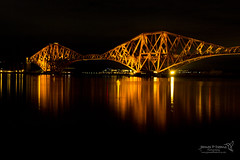 Forth Bridge 01 Dec 2016-0036.jpg (JamesPDeans.co.uk) Tags: nighttimeshot landscape bridge gb reflection westlothian roads firthofforth shore northsea light lights unitedkingdom timeofday forthbridge scotland britain railwaybridge colour red sea coast railway lothian europe uk southqueensferry for man who has everything wwwjamespdeanscouk landscapeforwalls greatbritain transporttransportinfrastructure digital downloads licence prints sale james p deans photography