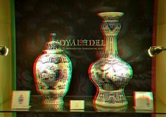 Delfts Blue 3D (wim hoppenbrouwers) Tags: deporceleynefles anaglyph stereo redcyan delftsblue 3d royal delfts blue royaldelft vase art