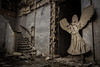Guarding Angel (Rodney Harvey) Tags: abandoned hotel pines arkansas urbex urban exploration angel guardian staircase marble