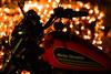Harley Davidson (rodiann) Tags: rhodes rodi rhodos greece grece grecia harley davidson motorcycle night bokeh lights outdoor black red yellow colours