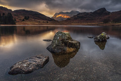 Stormy Skies Over the Langdale Pikes from Blea Tarn, Lake District (MelvinNicholsonPhotography) Tags: bleatarn lakedistrict langdalepikes langdale water light tarn lakes rocks stormy stormyskies gitzo manfrotto leefilters mindshiftgear melvinnicholsonphotography cumbria