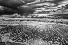 Silver Tide (mark5photographic) Tags: bnw sea seascapes seashore sun ocean coast outdoors water waves wave blackandwhite monochrome beach