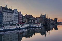 From Gdańsk Till Dawn (JohnnyKa$h) Tags: gdańsk danzig poland sel1855 port dawn sunset magichour water balticsea ostsee westerplatte oldtown crane