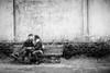 Kiss (www.streetphotography-berlin.com) Tags: love kiss couple young girl woman man bench sitting street streetphotography streetlife blackandwhite blackwhite impressionistic impressionism impressionist