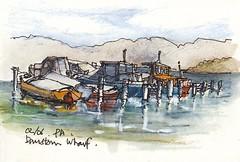Brisbane Waters - Davistown - archive (panda1.grafix) Tags: brisbanewaters davistown centralcoast landscapesketch