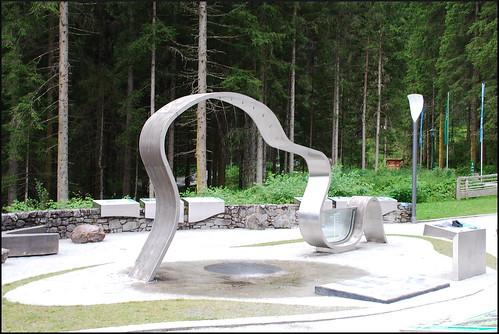 Escultura en Krimml (Austria, 21-7-2016)