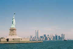 While it Still Means Something (misterperturbed) Tags: newyork worldtradecenter twintowers statueofliberty film