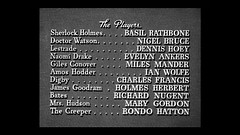 The Pearl of Death (1944) (twm1340) Tags: thepearlofdeath 1944 sherlockholmes basilrathbone universal mystery movie screenshot screen capture dvd theplayers cast credit card