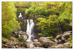 Inversnaid Falls (williamwalton001) Tags: watefall scotland stone woodlands bridge borders outdoors colourimage loch landscapephoto trees texture timber framed fineart forest softfocusing trolled rockpaper greenscene