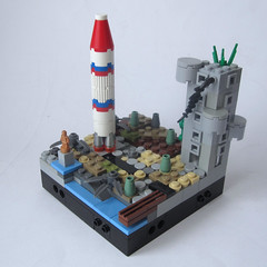 post-apoc : the rocket site (JETfri) Tags: lego microscale postapoc ffol rocket