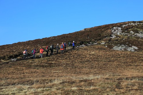 W5G_2878      Climbing Strickeen,  Gap of Dunloe.  10th February 2017.