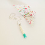 Stick Collection 2017 - turquoise and white necklace thumbnail