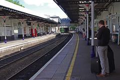 RD11062.  Cheltenham Spa. (Ron Fisher) Tags: uk greatbritain railroad england station europe pentax unitedkingdom transport eisenbahn rail railway gloucestershire gb publictransport pentaxkx chemindefer cheltenhamspa