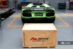 Installation of Lamborghini Aventador Roadster LP700 with Fi Exhaust (Fi Exhaust) Tags: fire volcano flame lamborghini exhaust intelligent frequency lambo shootingflame aventador spitflame lp700 lp7004 fiexhaust