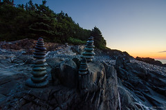 cairns (paul noble photography) Tags: sunrise maine relaxing newengland rocky cairns goldenhour mainecoast firstlight lubec rockycoast 1224f4 quoddyheadstatepark ruralmaine nikond7000 goldenhourlandscape paulnobleimages goldenhournikond7000 paulnoblephotography