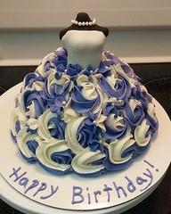 Princess dress cake by Nancy, Northern Utah, www.birthdaycakes4free.com